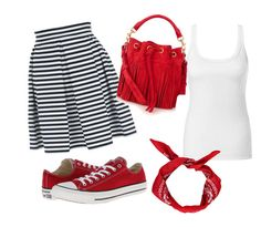 """""""black,white and red."""" by dzenana11 ❤ liked on Polyvore featuring Jane Norman, Intimissimi, Converse, Yves Saint Laurent and Boohoo"""