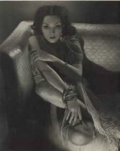 Lupe Velez as photographed by Edward Steichen and appearing in the June 1932 issue of Vanity Fair