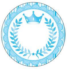 Rótulo Latinhas,toppers e tubetes Realeza Azul