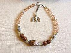 Bracelet en perle de verre de bohème rose.bplz05