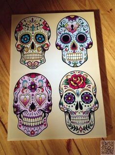 8. Wall Art - 29 #Downright Awesome Sugar #Skulls You're Going to Love ... →…