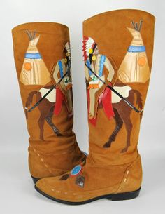 Vintage ZALO Leather Western Cowboy Boots
