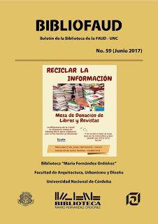 LA BIBLIOTECA DE LA FAUD: Boletín electrónico BiblioFAUD No. 59 (Junio 2017)...