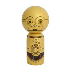 Star Wars C-3PO Handmade Wooden Usaburo Kokeshi Doll