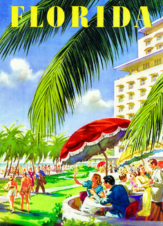 EuroGraphics Florida 1000-Piece Puzzle. Enjoy the summer afternoon with friends in the sunshine state. A vintage style travel poster for visiting Florida.