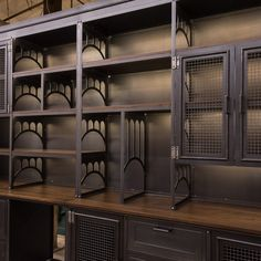 VI Wall Unit – Vintage Industrial Furniture Informations About VI Wall Unit Pin You can easily use m Industrial Design Furniture, Vintage Industrial Furniture, Industrial Interiors, Rustic Furniture, Furniture Design, Industrial Chic, Furniture Market, Industrial Office, Furniture Online