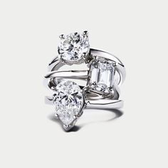 Diamond engagement rings - emerald or princess please