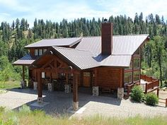 Beautiful Log Cabin, with hot tub overlooking cascading creekVacation Rental in Garden Valley from Night Garden, Home And Away, Mountain View, Logs, Smoke, Tub, House Styles, Vacation, Beautiful