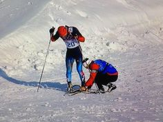 As Gafarov struggled towards the finish line, Canadian cross-country coach Justin Wadsworth ran onto the track carrying a new ski.