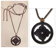Shop unique, award-winning Artisan treasures by NOVICA, the Impact Marketplace. Washer Necklace, Pendant Necklace, Seashell Jewelry, Coconut Shell, Floral Necklace, Shell Pendant, Necklace Designs, Carving, Pendants