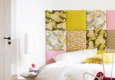 Spanplatte mit Stoff beziehen statt farbiger Wand