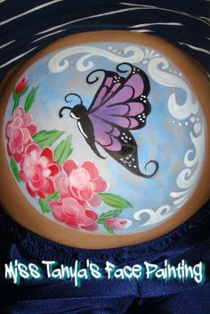 Butterfly Belly Painting. Face and belly painting in Eastern Pennsylvania.