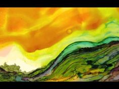 Painting with Alcohol Inks on Yupo Paper, with Wendy Videlock.