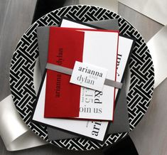 modern wedding invitations wedding invitations red wedding invitations black and white invitations urban elegance deposit