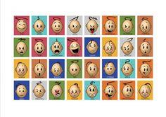 Mariaslekrum - Illustrerade känslor. Preschool Printables, Social Skills, Emoji, Playing Cards, Motivation, Education, Feelings, Holiday Decor, Autism