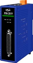 PROFINET 10 Channel Universal Analog Input Module with 4 kV Contact ESD protection for any terminal. Has power input range of +10 ~ +30 VDC. Communicates over PROFINET protocol. Supports operating temperatures of -25°C ~ +75°C (-13°F ~ 167°F) and is din rail mountable. More info: http://www.icpdas-usa.com/pfn_2019_s.html?r=pinterest