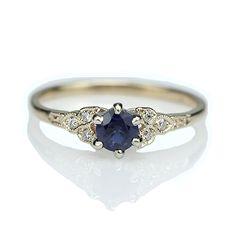 Replica Art Deco Sapphire Engagement ring - 3188-03