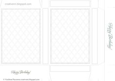DIY/ Box postcards. Templates box for printing. Scrapbooking card packaging. Free.