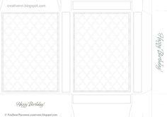 DIY/ Box postcards. Templates box for printing. Scrapbooking card packaging. Free.