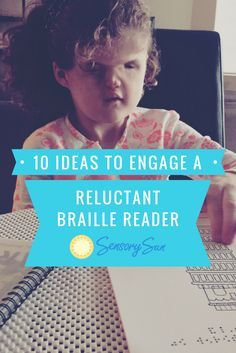 The ultimate goal for a braille reader is fluency. Fluency means the child reads smoothly and at a reasonable rate while comprehending what she is reading. Specifically for braille readers, fluency is demonstrated by decoding automatically, or without hav Special Needs Teaching, Special Educational Needs, Help Teaching, Student Teaching, Teaching Ideas, Beginning Reading, Kids Reading, Reading Braille, Visually Impaired Activities