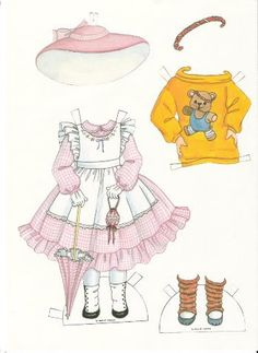 EDIE ANN by Judy Johnson for the enchanted doll house 25TH ANNIVERSARY PAPER DOLL Ѽ 4 of 6