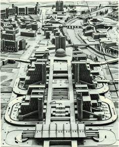 """Brutal students dormitory buildings """"Goce Delčev"""" in Skopje, Macedonia. Architect – Georgi Konstantinovski, 1975."""
