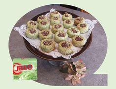 Pistachio Thumbprint Cookies - Good Food And Treasured Memories Christmas Baking, Christmas Cookies, Pineapple Delight, Pistachio Pudding, Instant Pudding Mix, Thumbprint Cookies, Vegetarian Cheese, Trifle