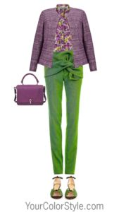 How To Wear Bright Green Grass