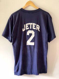 154a0f38f Vintage 90 s New York Yankees Derek Jeter T-Shirt SZ L