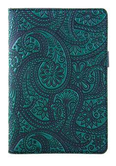 Leather Portfolio, Padfolio, Notebook, Small   Paisley   Oberon Design
