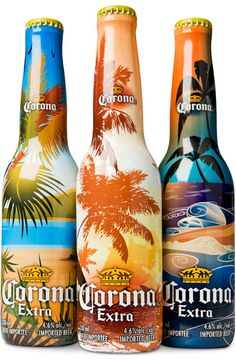 Beer Packaging – Corona Extra Limited Edition by Toronto's own Shikatani Lacroix Beer Corona, Corona Bottle, Corona Extra, Dairy Queen, Limited Edition Packaging, Coffee Packaging, Sleeve Packaging, Beers Of The World, Printing Labels