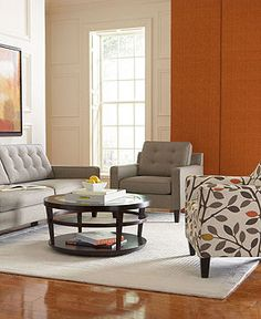 Ava Fabric Sofa Living Room Furniture Collection - Living Room Furniture - furniture - Macy's