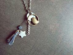 Bird DIY jewelry - sautoir fait-maison.