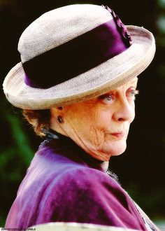 Maggie Smith...has been sassy for years!  This is my plan for old age, being the sassy lady in the hat.  #DowntonAbbeycometh