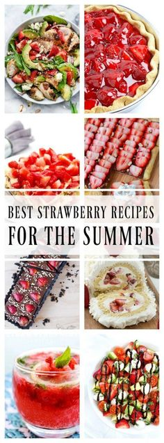 BEST STRAWBERRY RECIPES FOR THE SUMMER - A Dash of Sanity