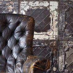 Our very cool wallpaper tin tile. astellahrela.com