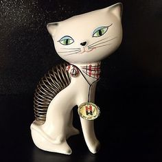 Holt Howard Cozy Kitten Desk Letter / Pen Holder 1958 All Tags in Place