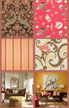 pink-and-brown-fabrics