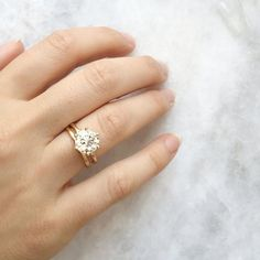 Starting to like gold more and more (ML)  The Marilyn Vintage Engagement Ring features an EGL…