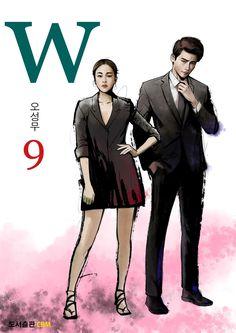 "Lee Jong-suk and Han Hyo-joo's Dorama ""W - two worlds"" art W Korean Drama, Korean Drama Movies, Korean Actors, Asian Actors, W Two Worlds Art, Between Two Worlds, Jung Suk, Lee Jung, K Pop"