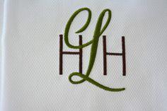 San Serif Block  Script Monogram