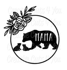 Love Bears All Things, Momma Bear, Hydro Flask, Leather Projects, Svg Files For Cricut, Vinyl Designs, Crafts To Sell, Cricut Ideas, Pug
