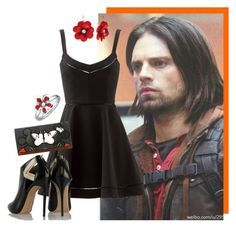 """""""James """"Bucky"""" Barnes"""" by myamane ❤ liked on Polyvore featuring Sebastian Professional, Elizabeth and James, Casadei, Torrid, Expressions, marvel, bucky and wintersoldier - visit to grab an unforgettable cool 3D Super Hero T-Shirt!"""