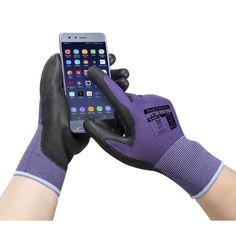 Guante Touchscreen con palma de PU Socks, Fashion, Purple Color Combinations, Clothes Shops, Color Coordination, Palms, Tools, Moda, Fashion Styles