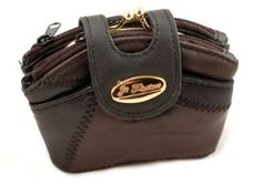 LADIES SNAP TOP LEATHER PATCHWORK PURSE (4974) (DARK MULTI): Amazon.co.uk: Shoes & Accessories