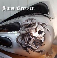 Pinstripe Art, Custom Tanks, Motorcycle Tank, Cool Tanks, Red Candy, Paint Schemes, Custom Paint, Airbrush, Sugar Skull Art
