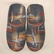 """Обувь ручной работы. Ярмарка Мастеров - ручная работа Мужские валяные тапки """"Английский стиль"""". Handmade."""