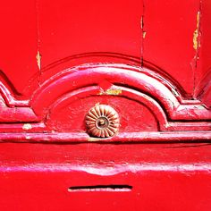 Detail of #door in #Besancon #red #rouge #instagram