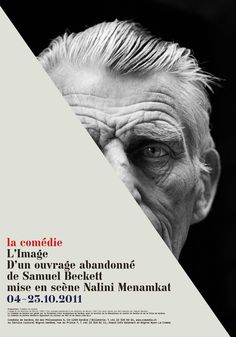 Flavia Cocchi, Advertisement for the Comédie, Geneva, Lausanne, Switzerland Samuel Beckett, Typographic Poster, Typography, Page Online, Commercial Art, Lausanne, Einstein, Sensory Overload, Images