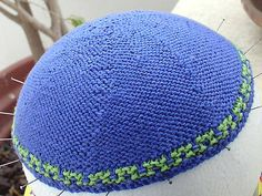 Ravelry: Basic Knit Kippah (Yarmulka) In Reverse Stocking Stitch pattern by Jennifer Tocker